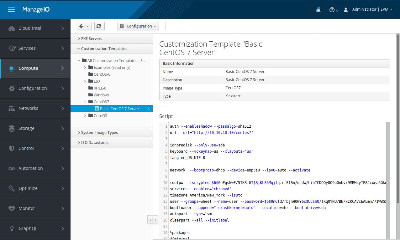 Customization template editor.